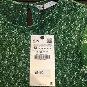 Zara - Green Maxi Dress - Medium - NWT